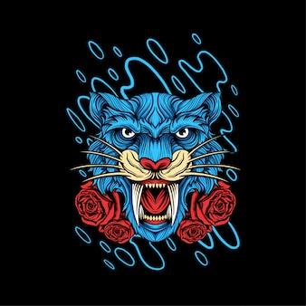 Design dell'illustrazione della testa della tigre