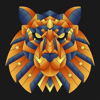 Illustrazione di testa di tigre