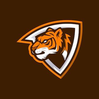 Logo della testa della tigre per club sportivo