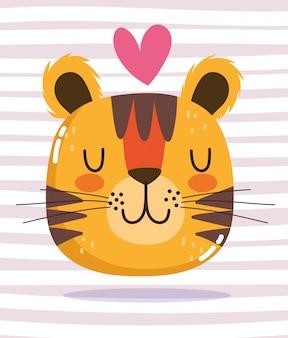 Testa di tigre con cuore