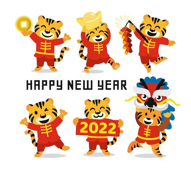 Il segno dell'oroscopo della tigre ha messo il buon anno cinese