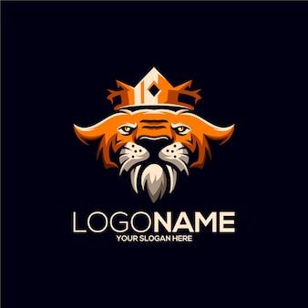 Design del logo del re della tigre