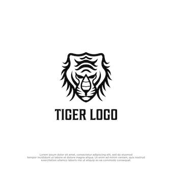 Modello di vettore di progettazione del logo della tigre