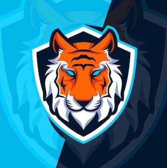 Disegno della mascotte tigre esport logo
