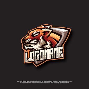 Disegno del logo della mascotte della tigre