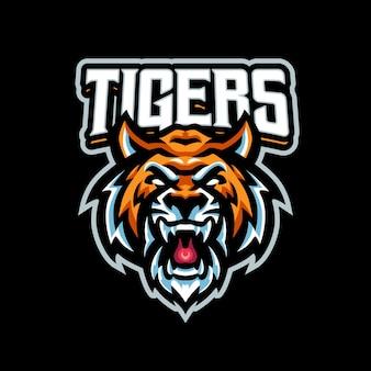 Logo della mascotte della tigre per sport e sport di squadra