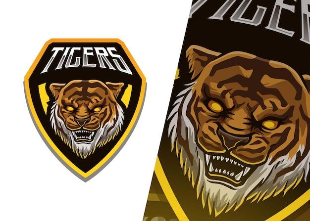 Illustrazione del logo della mascotte della tigre