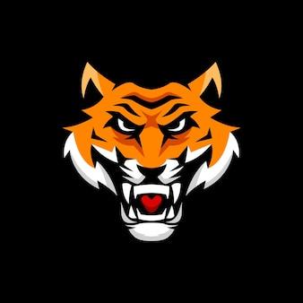 Modelli di logo della mascotte della tigre