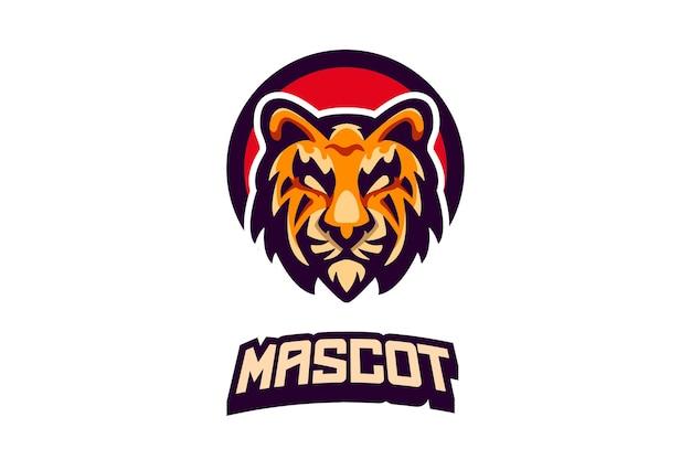 Logo della mascotte della tigre