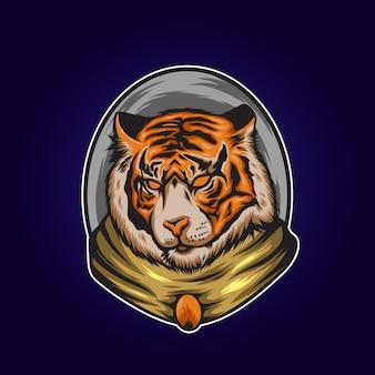 Tigre così bella illustrazione Vettore Premium