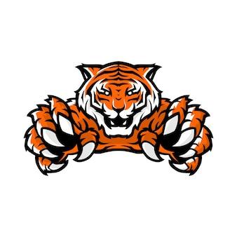Logo di gioco sportivo tigre