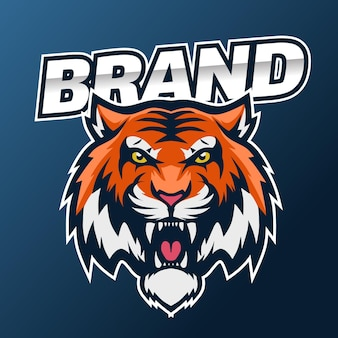 Logo sportivo della tigre