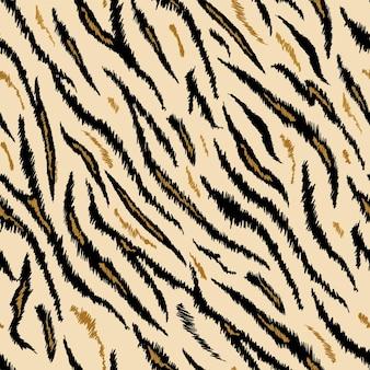 Modello animale senza cuciture di struttura della tigre. tessuto a righe sfondo pelle di tigre. stampa di design astratto di moda per carta da parati, decorazioni. illustrazione vettoriale