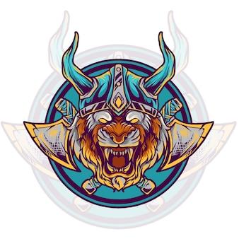 Tiger viking illustrazione