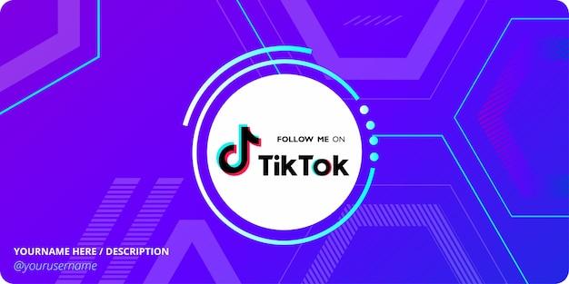 Tik tok modello di social media con sfondo astratto geometrico