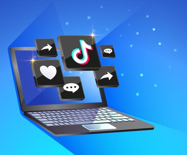 Social media tiktiok con desktop dekstop