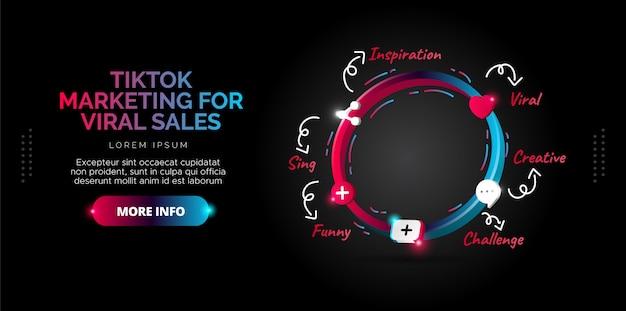 Illustrazioni di design dei contenuti di tiktok dal tuo account.