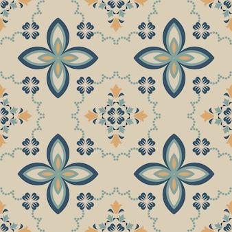 Piastrelle seamless pattern design. con motivo colorato