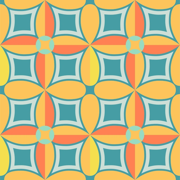 Piastrelle di design senza cuciture con motivi colorati sullo sfondo