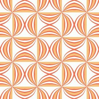Disegno del modello senza cuciture delle mattonelle con sfondo di motivi colorati