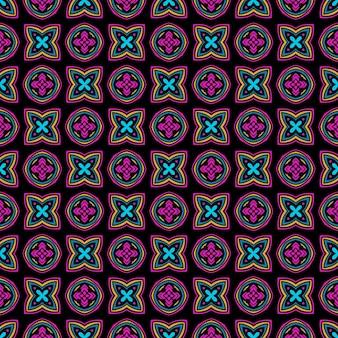 Motivo etnico piastrellato per tessuto. ornamento senza cuciture dell'annata del mosaico geometrico astratto.