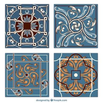 Piastrelle con ornamenti disegnati a mano