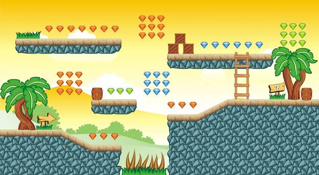 Piattaforma tileset per la creazione di giochi