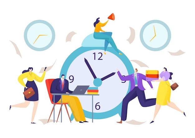 Tempo all'orologio per l'illustrazione della scadenza aziendale