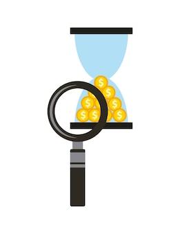 Il tempo è denaro icona del concetto