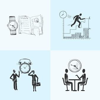 Schizzo di composizione per la gestione del tempo