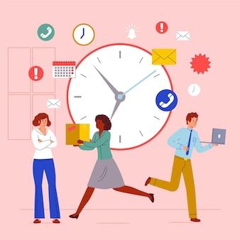 Concetto di gestione del tempo illustrato