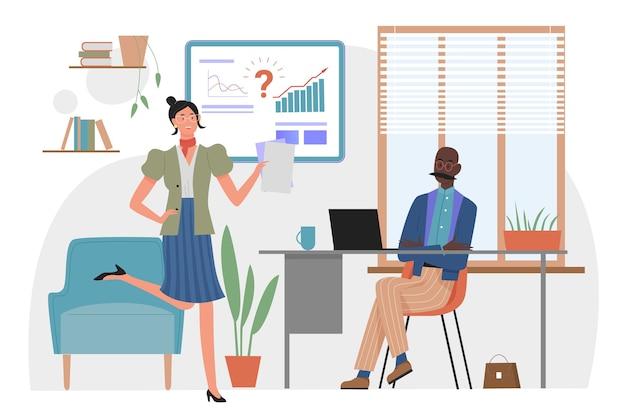 Gestione del tempo nel concetto di scadenza del progetto aziendale di ufficio