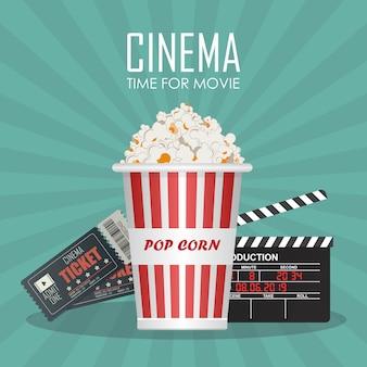 Tempo per l'illustrazione del poster di film. invito al film
