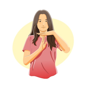 Time out, pausa, pausa o tenere premuto il concetto di gesto