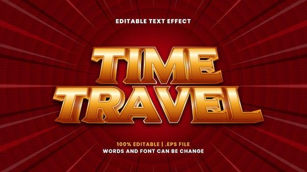Effetto di testo modificabile per viaggi nel tempo in moderno stile 3d