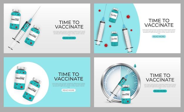 È ora di vaccinare il baner set 2021 vaccinazione contro il coronavirus