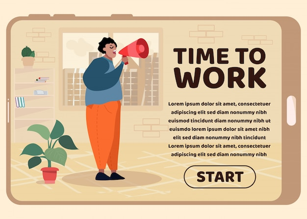 Design time to work per mobile landing page