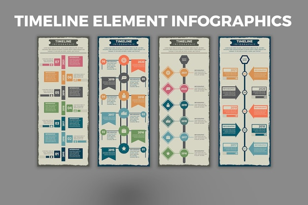 Modello infografica elemento timeline