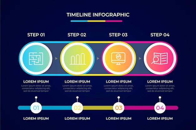 Concetto di raccolta infografica timeline