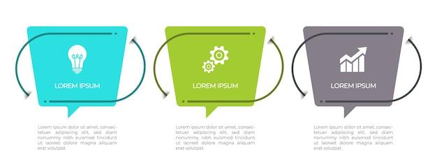 Opzioni del modello 3 infografica timeline.