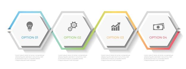 Opzioni del modello di infografica timeline 4.