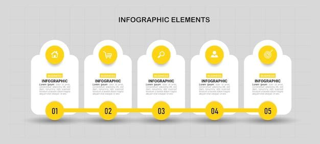 Modello di progettazione infografica timeline.
