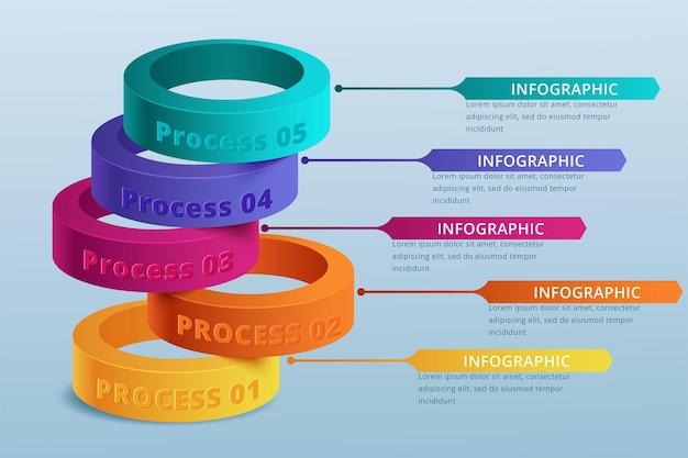 Infografica timeline design vettoriale e icone di marketing