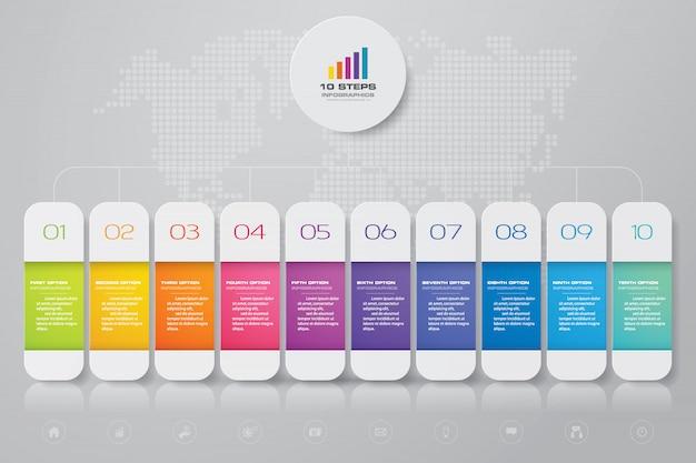 Elemento infografica timeline