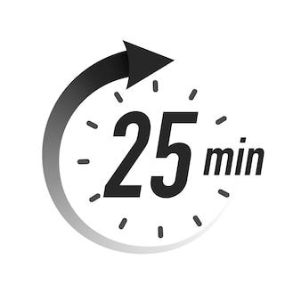 Timer minuti simbolo stile nero isolato su sfondo bianco orologio cronometro tempo di cottura label