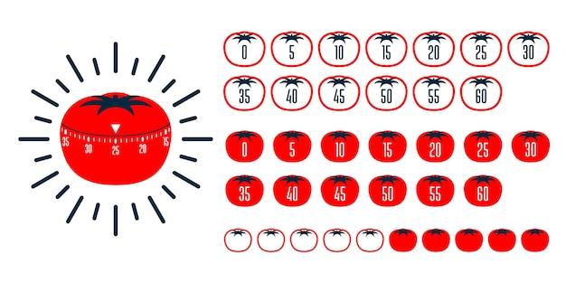 Timer pomodoro. pomodoro tecnica di gestione del tempo - timer da cucina