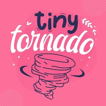 Piccolo tornado lettering premium vector design