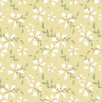 Modello senza cuciture di piccoli fiori bianchi