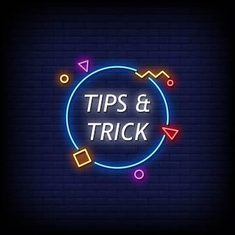 Suggerimenti e trucchi per insegne al neon in stile testo