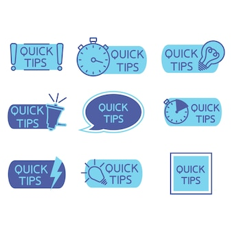Suggerimenti trucchi trucchi utili tooltip suggerimento per il sito web set di suggerimenti rapidi soluzione consigli utili